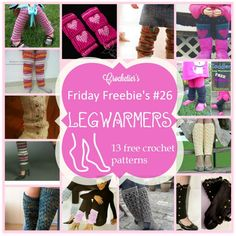 Get ready for fall season with these lovely and free crochet legwarmers patterns! There is one for every girl in it :) Just click on the name of the pattern to get linked to it.  1. Cluster and Stripes Legwarmers on tangledhappy.com Size is for kids...