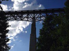 Cache near this railroad bridge in Helenwood, Tn
