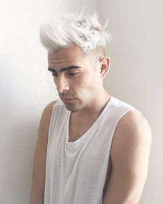 Bleached+White+with+Quiff