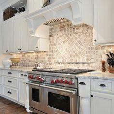 Brick Backsplash Kitchen Design Ideas, Pictures, Remodel and Decor