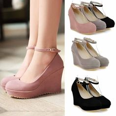 2016 Spring and Autumn Womens Shoes High-heeled Shoes Platform Princess Vintage . - 2016 Spring and Autumn Womens Shoes High-heeled Shoes Platform Princess Vintage Brief Ladies Wedge pumps Big Size Source by - Prom Shoes, Women's Shoes, Wedge Shoes, Shoes Style, Shoes Heels Wedges, Shoes Sneakers, Flat Shoes, Casual Shoes, Sneakers Women