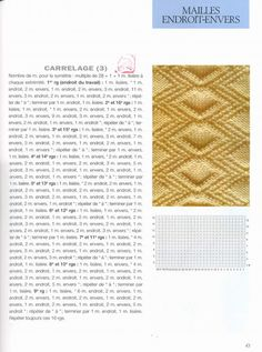 43 meilleures images du tableau Points tricot   Knitting patterns ... 0508a77d580