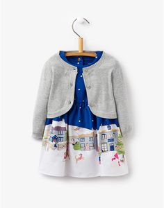 Cotswold Christmas Babyrebecca Dress and Cardigan Two Piece Set | Joules UK