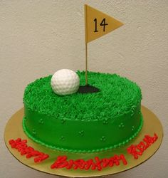 need a golf cake for the Man's birthday... a non-fondant cake can't be THAT difficult..