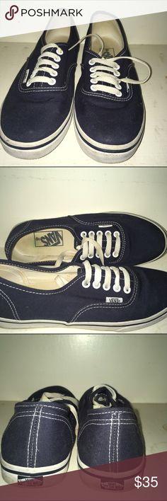 Navy Blue Vans Men/Woman navy blue vans. Only worn a few times, great condition. Vans Shoes Platforms