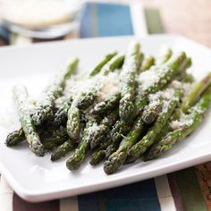 When it comes to roasted vegetables, asparagus is a great candidate. A short stint in the oven brings out an amazingly deep, toasty flavor to contrast the bright green spears./
