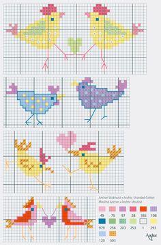 Cute chicks free cross stitch pattern from www.coatscrafts.pl