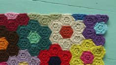 atty's: Crochet hexagon GFG setting Blanket.