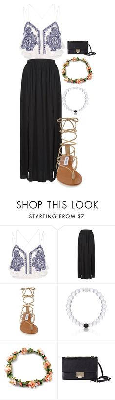 """""""Summer Outfit"""" by frodriguez0802 on Polyvore featuring River Island, Topshop, Steve Madden, Everest and Jimmy Choo"""