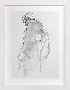 Drawing 357 - Figure from the Side by Derek overfield for Minted