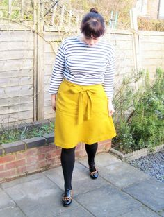 Tilly and the Buttons Miette Mustard Linen