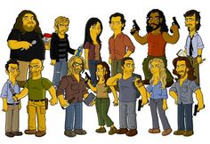 The Cast of Lost Simpsonized