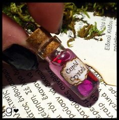 Potions:  Cupid Crystals #Potion Bottle. I have a bunch of little bottle what a cute idea