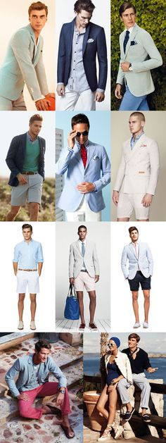 Men's Seersucker Clothing Outfit Lookbook Inspiration