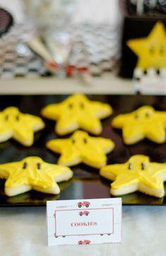 Mario Party star cookies