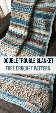 Double Trouble Blanket [Free Crochet Pattern] #crochet #crochetlove #CrochetBlanketsEasy