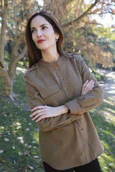 Camisa abrigadísima de Lentejita para #eustyle y pantalones de la marca de ropa premamá A Pea in the Pod de NY