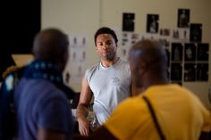 Ray Fearon in rehearsal for Julius Caesar.  Photo by Kwame Lestrade.