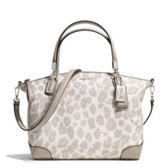 I MUST have this for spring!!! :D The Madison Small Kelsey In Ocelot Jacquard from Coach