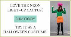 DIY Neon Cactus Light Tutorial - Shrimp Salad Circus