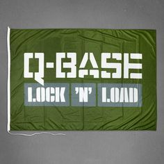 Q-BASE Flag Green | Q-dance Store