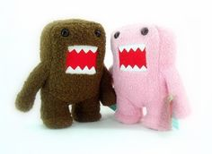 Domokun 10 Plush Set  One Pink and One Brown 10 Plush Domo Set -- Check out this great product.