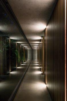 Interior Design Work, Exterior Design, Modern Interior, Dream Home Design, Modern House Design, Corridor Lighting, Wall Lighting, Hotel Corridor, Hotel Room Design