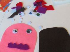 Felt monsters and googly eyes @Deborah @ Teach Preschool
