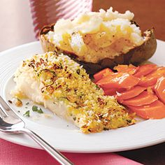 Crispy Baked Cod   Need a new recipe to get you through lent?  Give this one a try.  Fresh Cod works best, and to kick it up a notch make your own bread crumbs.