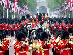Prince William, Kate & Prince Harry Help Fête Queen Elizabeth at Her Birthday Parade| The British Royals, The Royals, Kate Middleton, Prince...