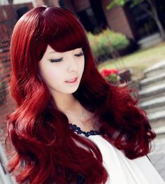 Brand of Bright Red Hair. She is currently Senior Brand Manager, Professional Products for Beauty. So i want to dye my hair bright red like in this picture. Bright Red Hair Dye, Dyed Red Hair, Red Hair Color, Color Red, Burgundy Color, Love Hair, Great Hair, Gorgeous Hair, Beautiful Redhead