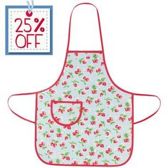 Let kids enjoy messy cooking and crafts with our pretty Mini Strawberry apron. Made from easy-care oilcloth, simply wipe clean and it's ready to use again!
