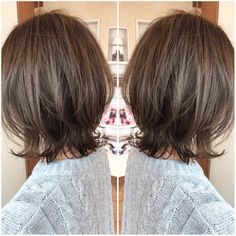 Image may contain: one or more people New Haircuts, Short Bob Hairstyles, Medium Hair Styles, Curly Hair Styles, Lob Hairstyle, Asian Hair, Layered Hair, Hair Lengths, Hairdresser