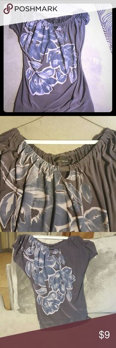 BAM!! Gray top from The Limited Gray top from The Limited! Gently used and in great condition The Limited Tops Blouses