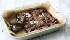 Chunks of marshmallows make these brownies addictively good