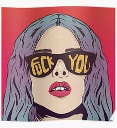 'Fuck you Pop Art Illustration' by animateastory Cultura Pop, Comic Kunst, Comic Art, Pop Art Girl, Vintage Comics, Portrait, Caricature, Art Inspo, Pop Culture