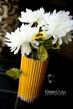 DIY Pencil Vase for a Back to School Party