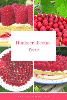 Himbeer-Ricotta-Torte Ricotta Torte, Cupcakes, Flan, Raspberry, Fruit, Party, Desserts, Foodblogger, Ayurveda