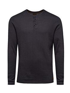 JACK & JONES VINTAGE CLOTHING - Pullover von VINTAGE - Geknöpfter Split-Neck - Slim fit - Bündchen und Saum sind gerippt 100% Baumwolle...