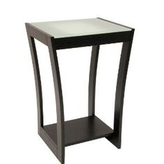 Winsome Radius Accent Side Table with Frosted Glass and Curved Legs Winsome Wood, Accent Furniture, Frosted Glass, Wall Colors, End Tables, Modern Design, Espresso, Inspiration, Accent Tables