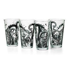 Tentacle Pint Glass 4-Pack Set