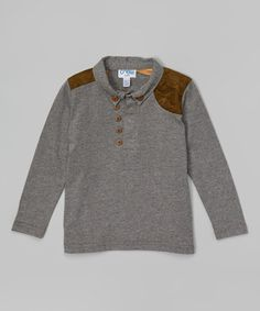 Look what I found on #zulily! Heather Gray Polo - Toddler & Boys by Feathers USA #zulilyfinds