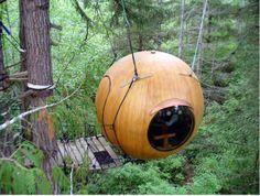Free Spirit Spheres - Vancouver Island, British Columbia.  How fun is this?