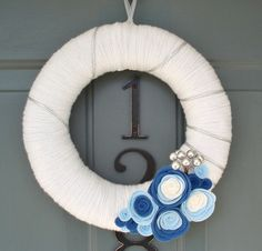 Wreaths are so not Jewish, but this is pretty and could go with other Hanukkah decor...