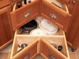 Way more functional than a corner turntable cabinet. 57 Practical Kitchen Drawer Organization Ideas   Shelterness