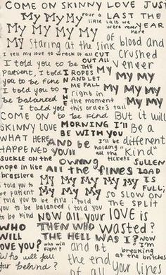 Skinny Love lyrics - Bon Iver