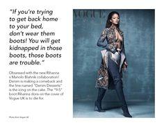 Rihanna x Manolo Blahnik Manolo Blahnik, Rihanna, Kimono Top, How To Make, How To Wear, About Me Blog, Posts, Denim, Women