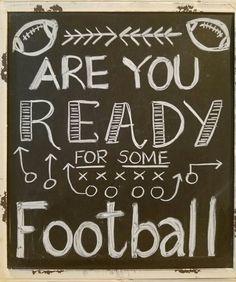Fall chalkboard art, autumn, football fan
