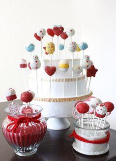 Valentine's Day Cake Pops: Cake Pop Tower | da niner bakes