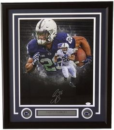 62c0a26de73 Saquon Barkley Signed Framed 16x20 Penn State Nittany Lions Collage Photo  JSA
